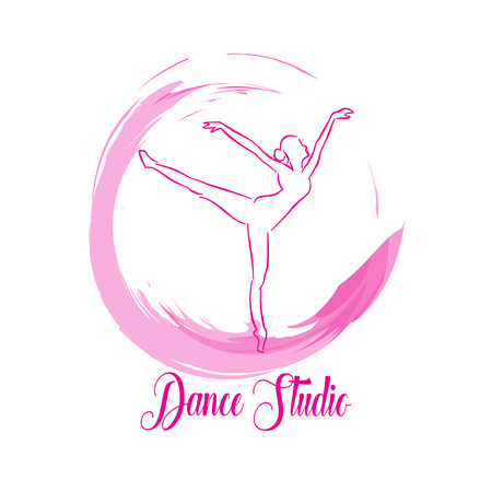 logo dance studio. Vector illustration.