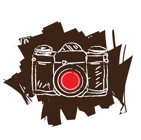 Antique film camera Illustration