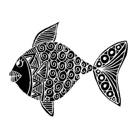 Fish with decorative ornament.