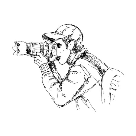 Sketch of Photographer