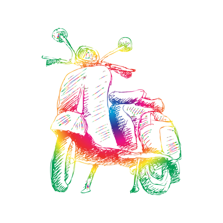 Sketchy of  motorcycle.