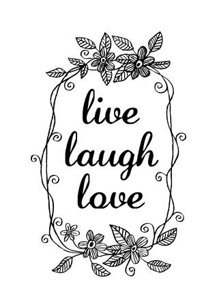 live laugh love Banco de Imagens