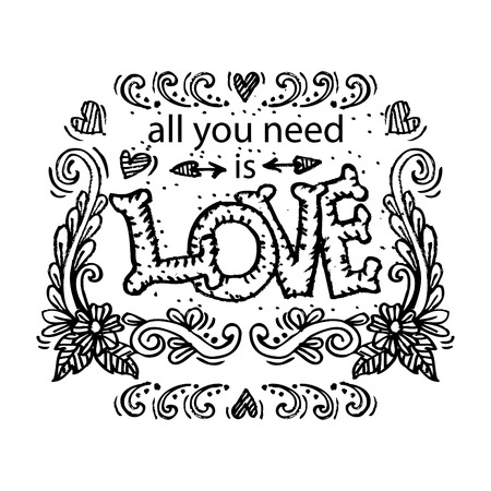 endearing: Inspirational message - All You Need Is Love