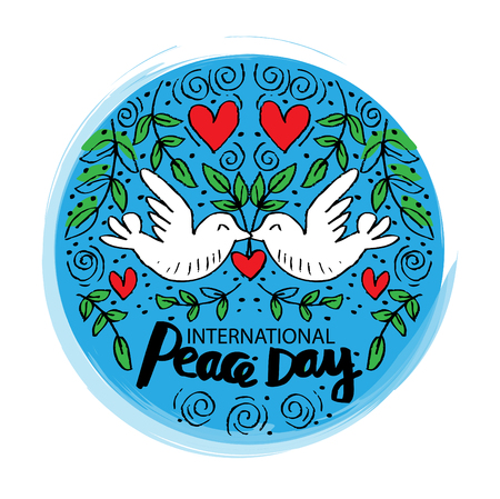 International Peace Day Card Çizim