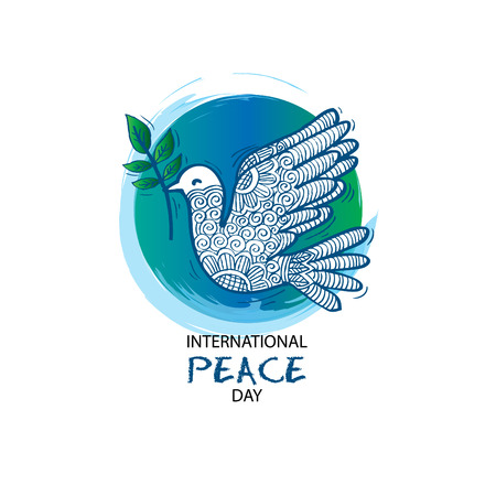 International Peace Day Card Illustration