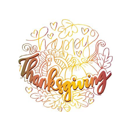 Happy Thanksgiving Card. vector illustration. Illustration