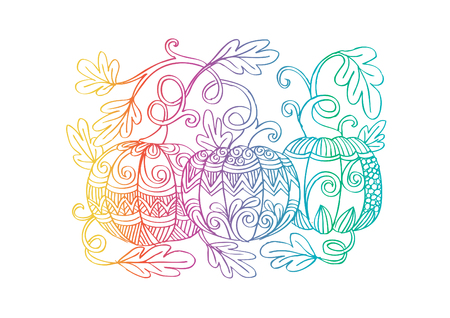 Pumpkins with decorative style.