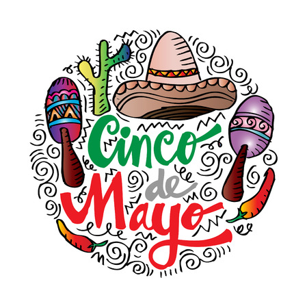 Cinco De Mayo Hand lettering poster