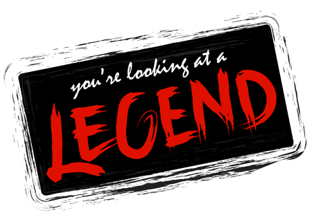 Youre looking at a legend. Handwritten modern brush calligraphy for cards, t-shirt, prints.
