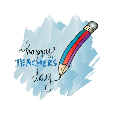 Happy teachers day card.