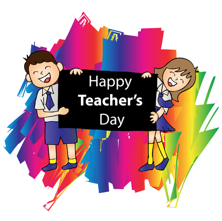 Happy teachers day Stock Vector - 86962058