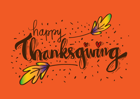 Thanksgiving typography design
