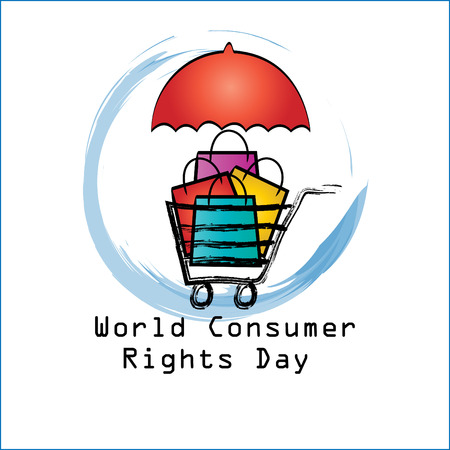 World consumer rights day concept  イラスト・ベクター素材