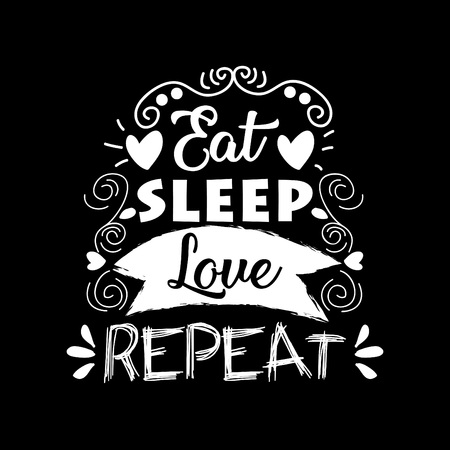 Eat, sleep , love and repeat postcard