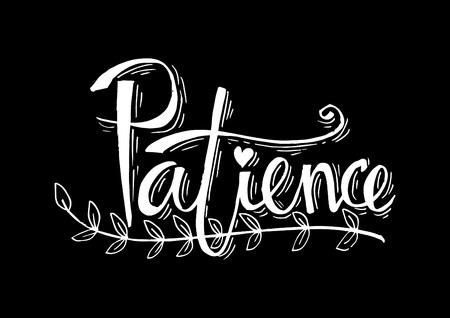 Patience lettering Ilustração