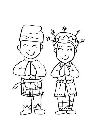 Cartoon costume, Riau, Indonesian traditional clothes.