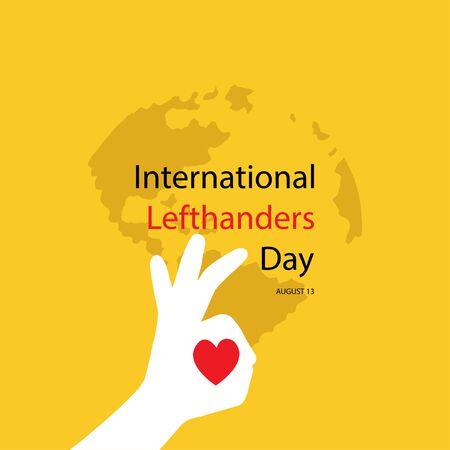 Internationaler Tag der Linkshänder. 13. August