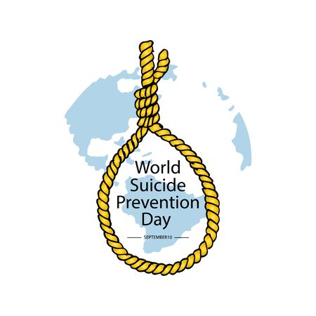 World Suicide Prevention Day. September 10. 일러스트