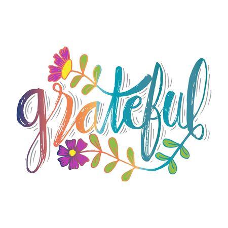 Grateful hand lettering card