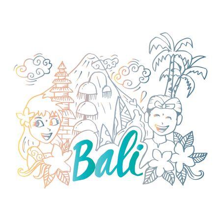 Signo de Bali en doodle dibujado a mano