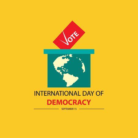 International Day of Democracy. September 15. Reklamní fotografie - 128566258