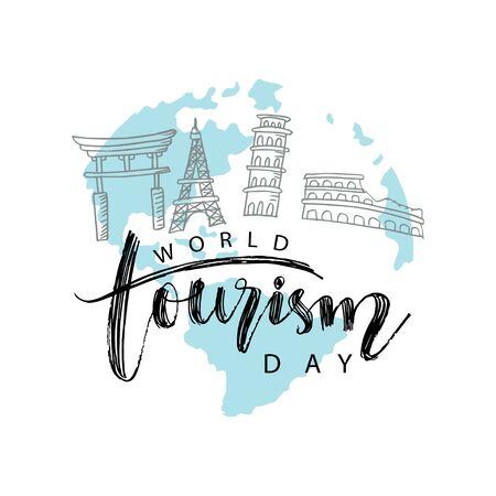 World tourism day concept. September 27