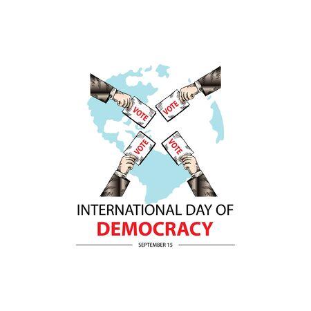 International Day of Democracy. September 15. Reklamní fotografie - 128567019