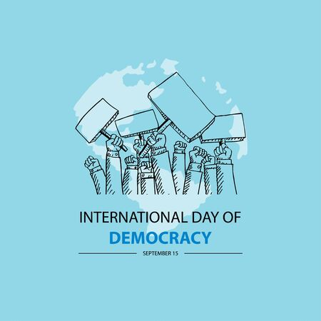 International Day of Democracy. September 15. Ilustrace