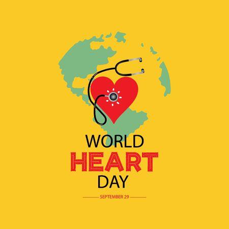 World heart day concept. September 29.