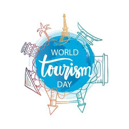 World Tourism Day. September 27. 일러스트