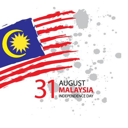 Malaysia Independence day. 31 August. Greeting card.