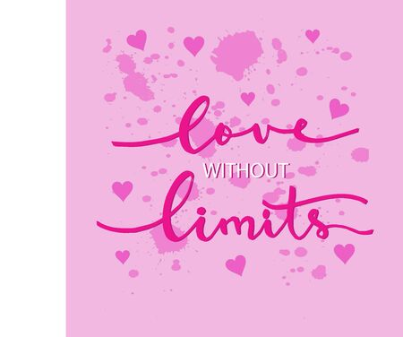 Love without limit  hand lettering.