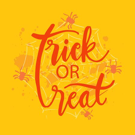 Trick or treat hand lettering