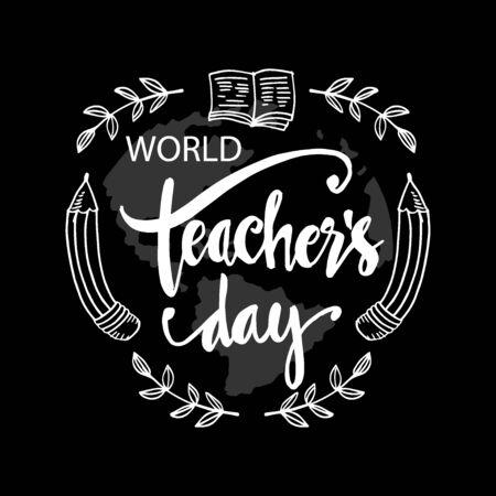 World teachers day poster. October 5