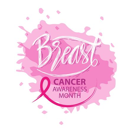 Breast Cancer awareness moth symbol banner poster