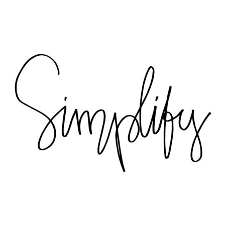Simplify hand lettering calligraphy, Motivational Business.