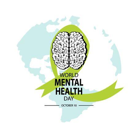 World Mental Health Day Concept. Иллюстрация