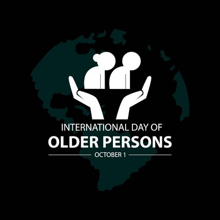 International day of older persons  concept Иллюстрация