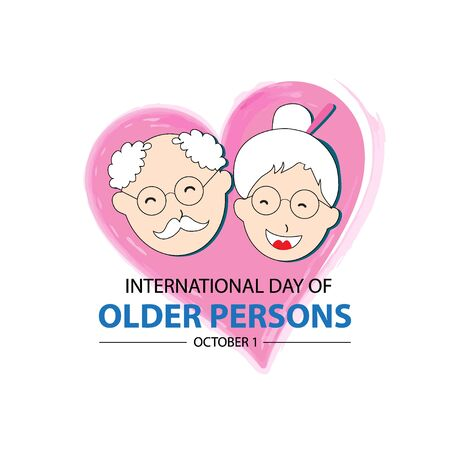 International day of older persons  concept Illustration