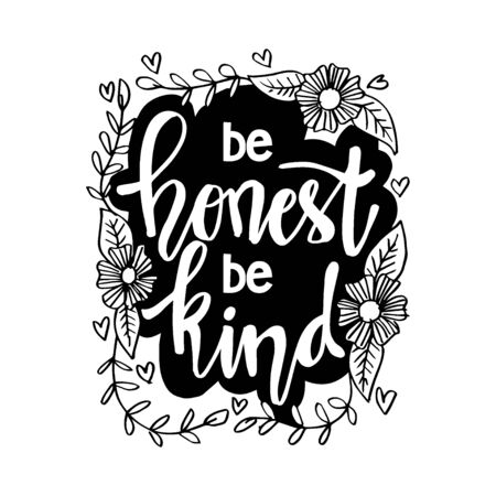 Be honest be kind. Inspirational Quote