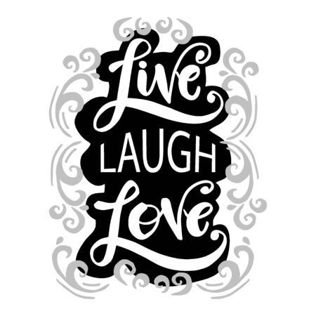 Live Lough Love hand drawn typography poster