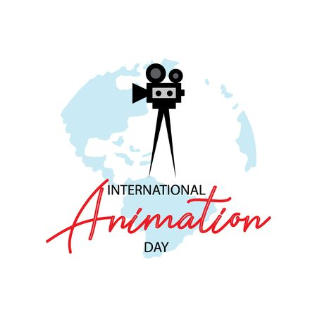 International Animation Day. October 28 Ilustracja