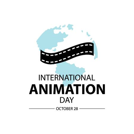 International Animation Day. October 28 일러스트