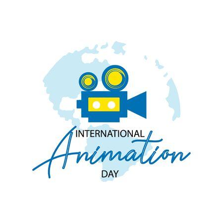 International Animation Day. October 28 Illustration
