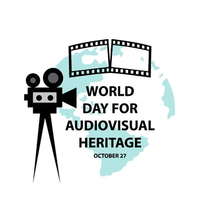 World Day for Audiovisual Heritage Concept. Illustration