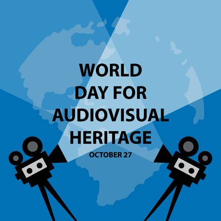World Day for Audiovisual Heritage Concept. 일러스트