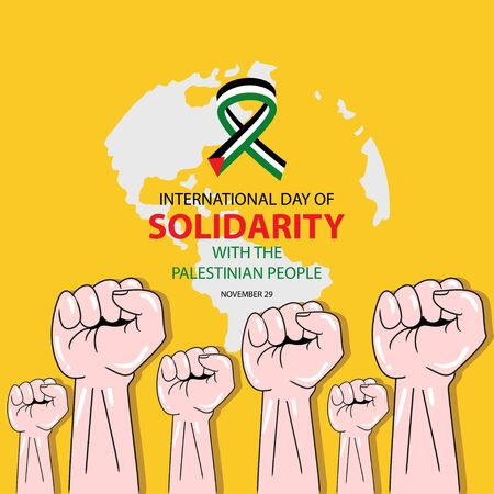 International Day of Solidarity with the Palestinian People Ilustracja