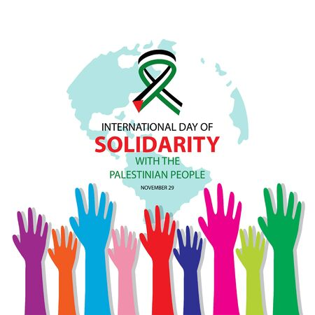 International Day of Solidarity with the Palestinian People 일러스트