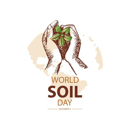 World Soil Day concept for banner or poster design.