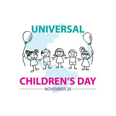 Universal Children's Day. November 20 스톡 콘텐츠 - 134106812